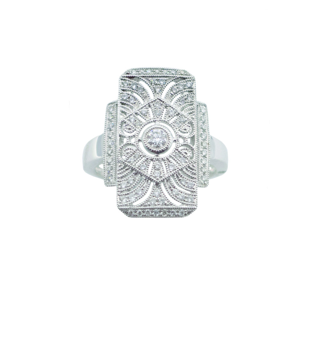 Intricate diamond ring!