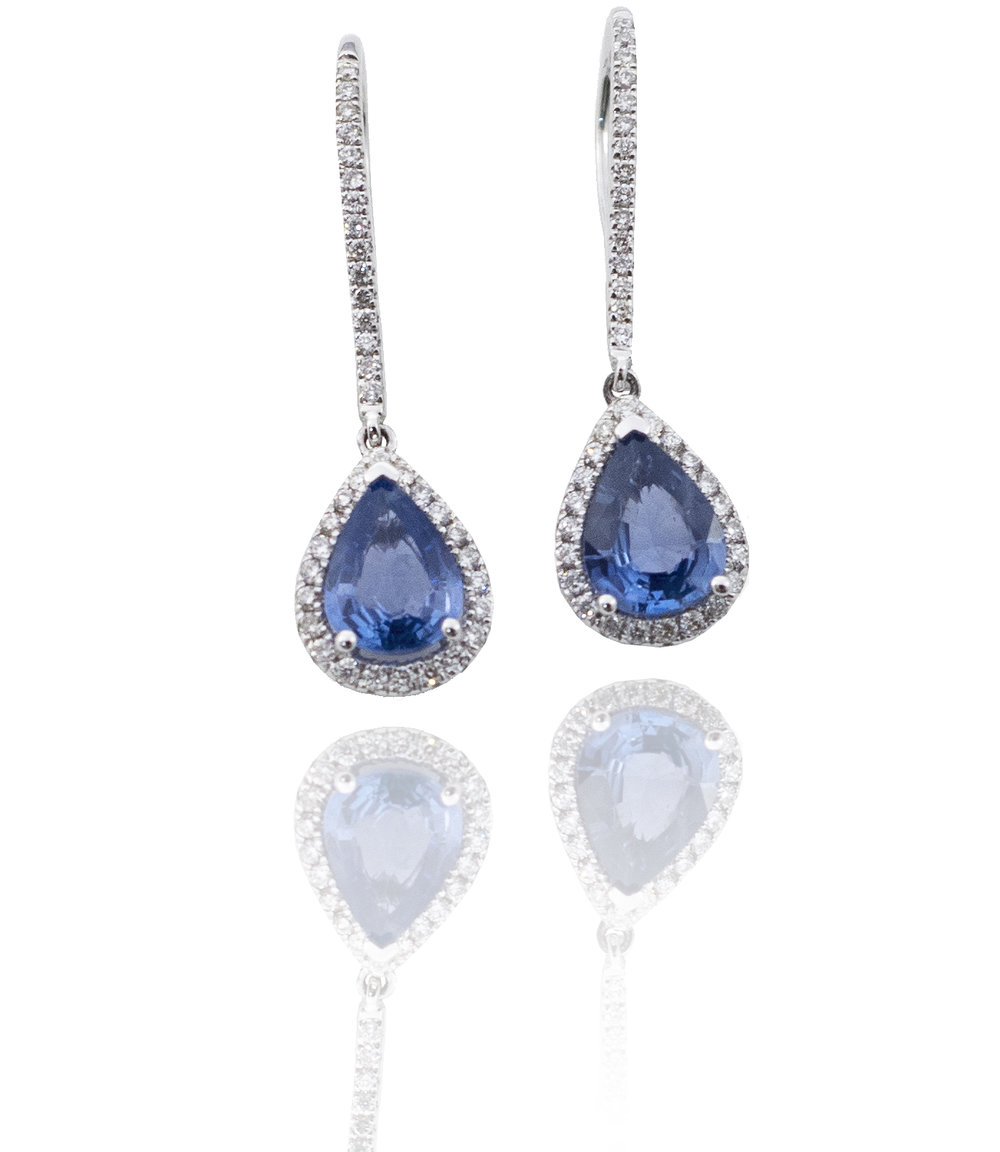 Diamond sapphire earrings!