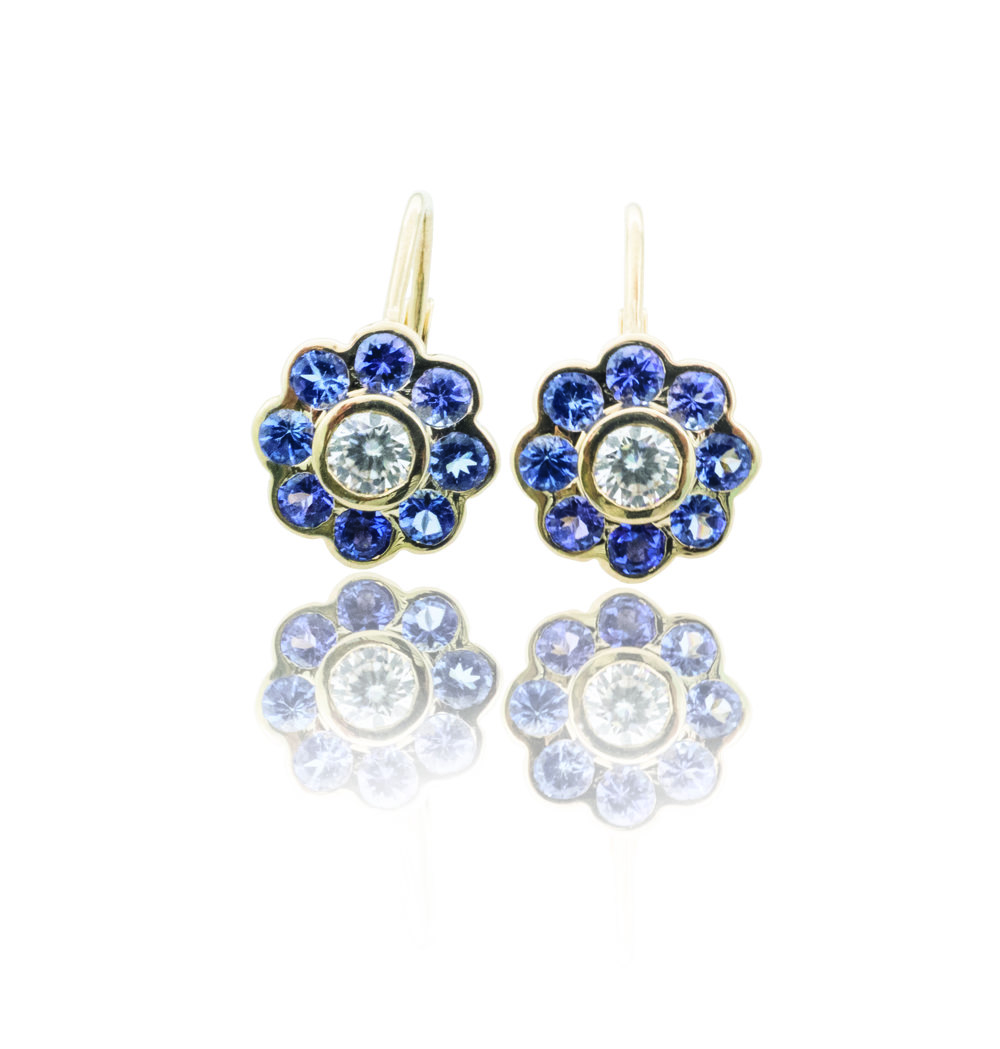 Tanzanite floral drop earrings!