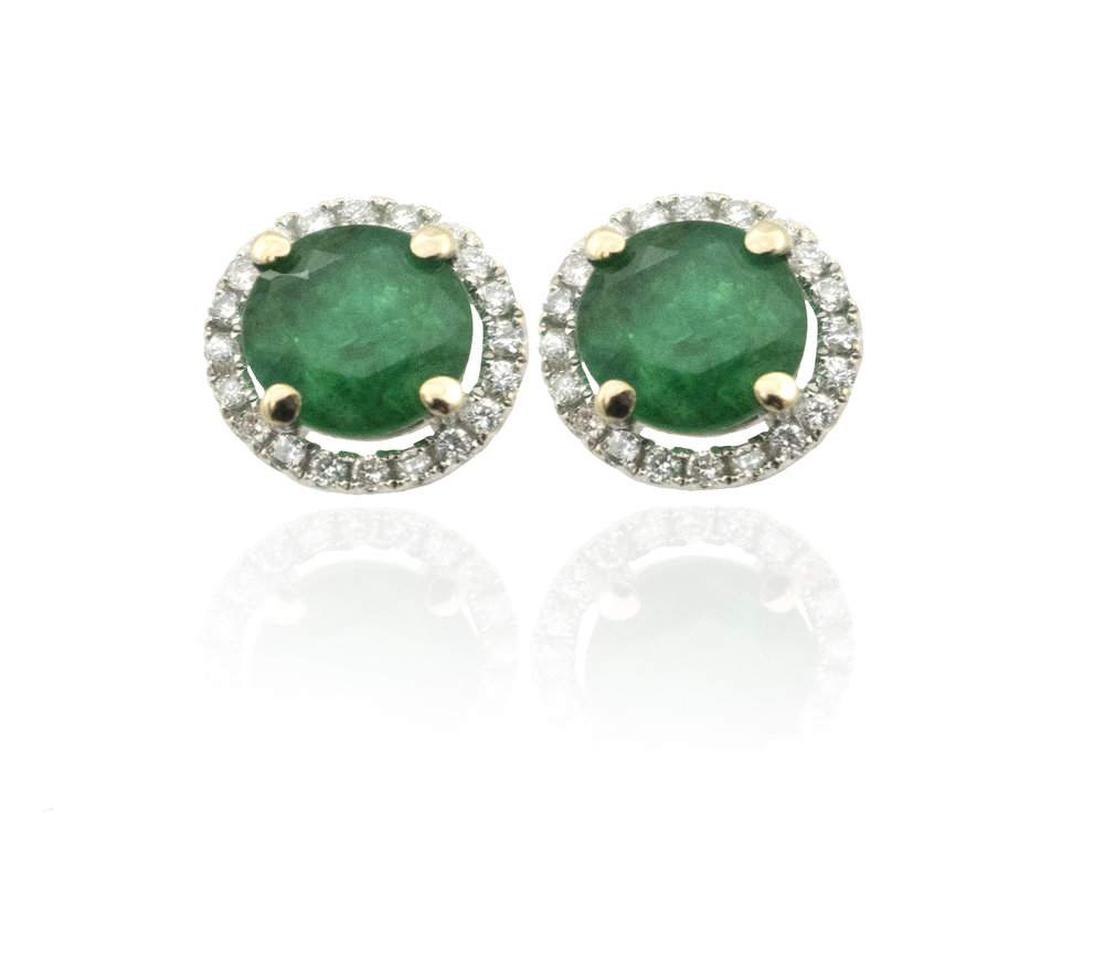 Diamond Emerald studs!
