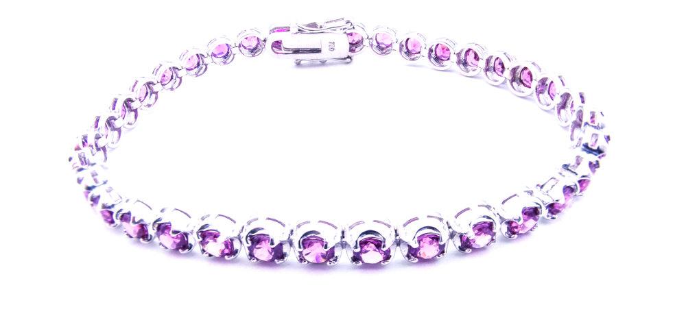 Tourmaline tennis bracelet