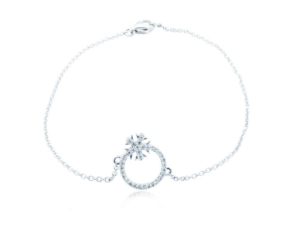 White gold snowflake bracelet!
