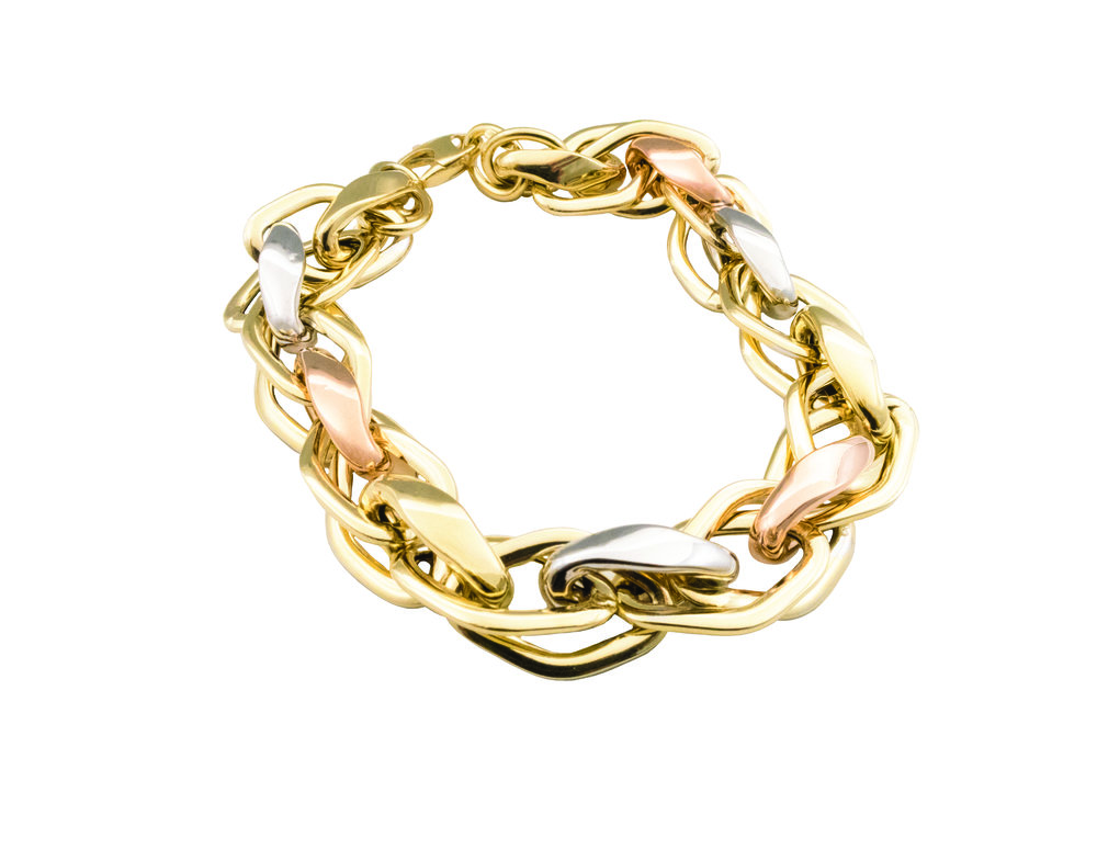 3 tone gold bracelet!