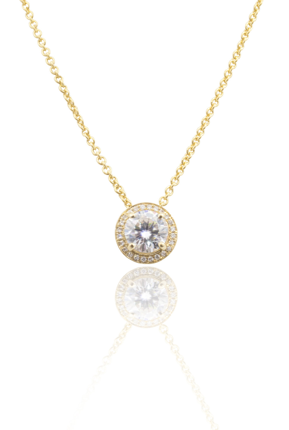 Moissanite gold necklace!