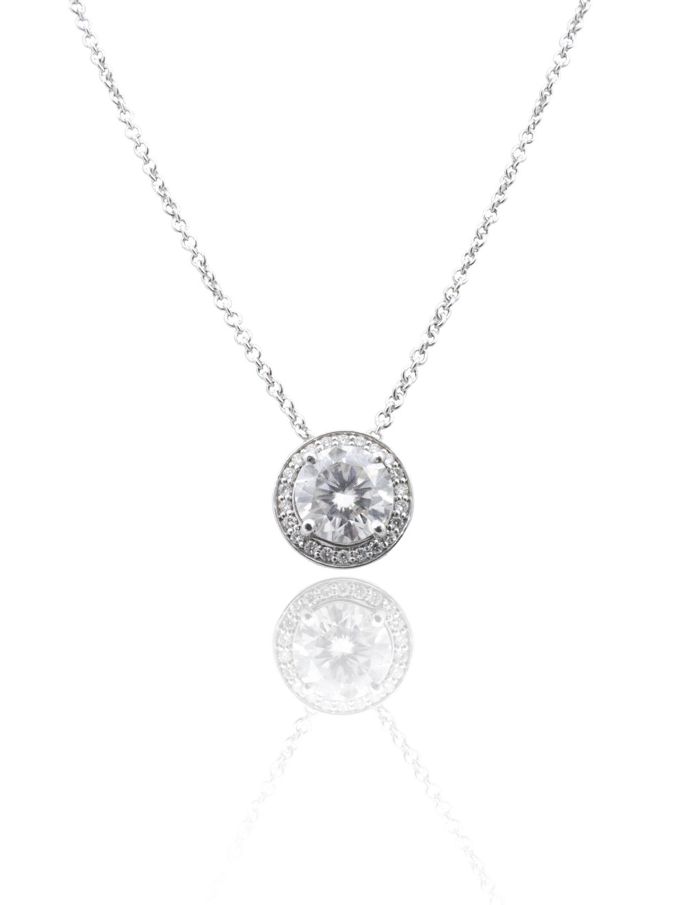 Moissanite diamond necklace! - SOLD!
