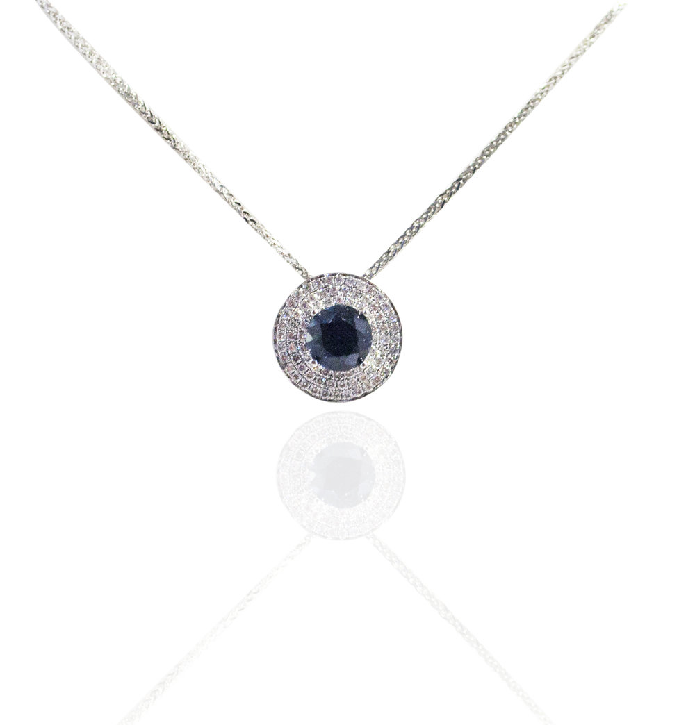 Tourmaline diamond necklace!
