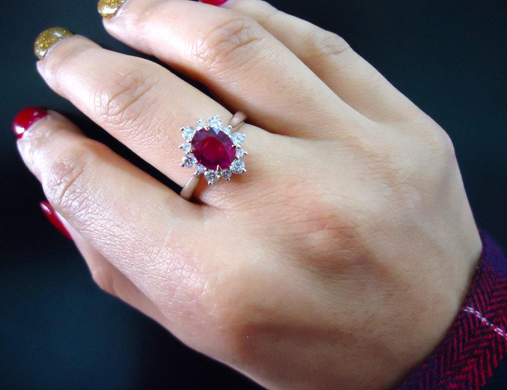 Sapphire diamond ring! - SOLD