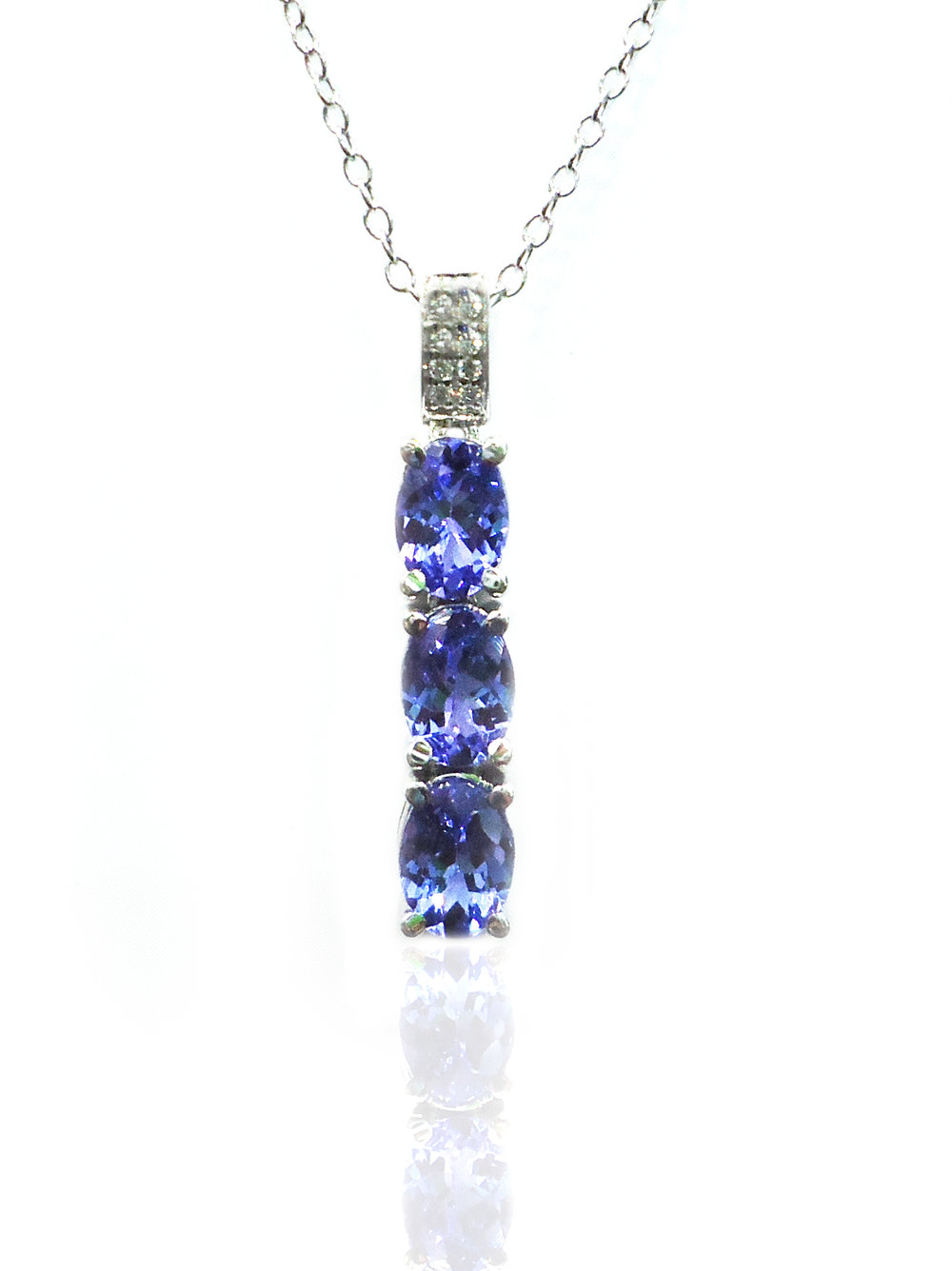 Tanzanite diamond pendant!
