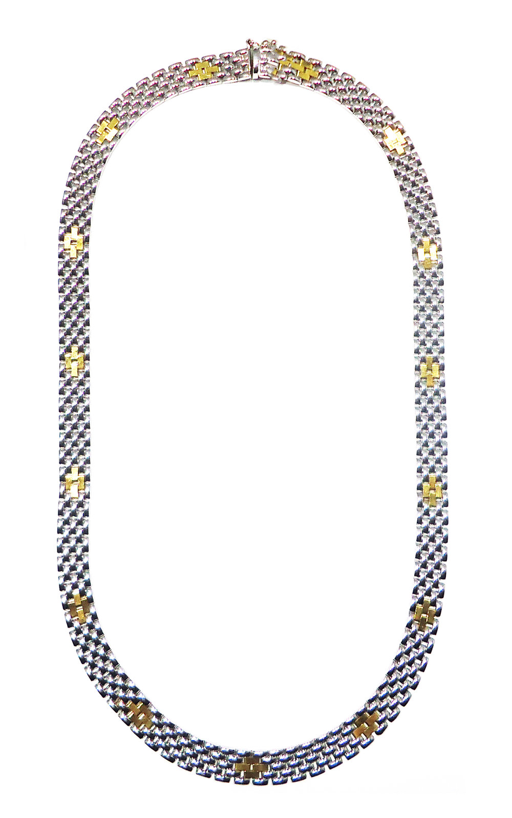 White and yellow gold necklace!