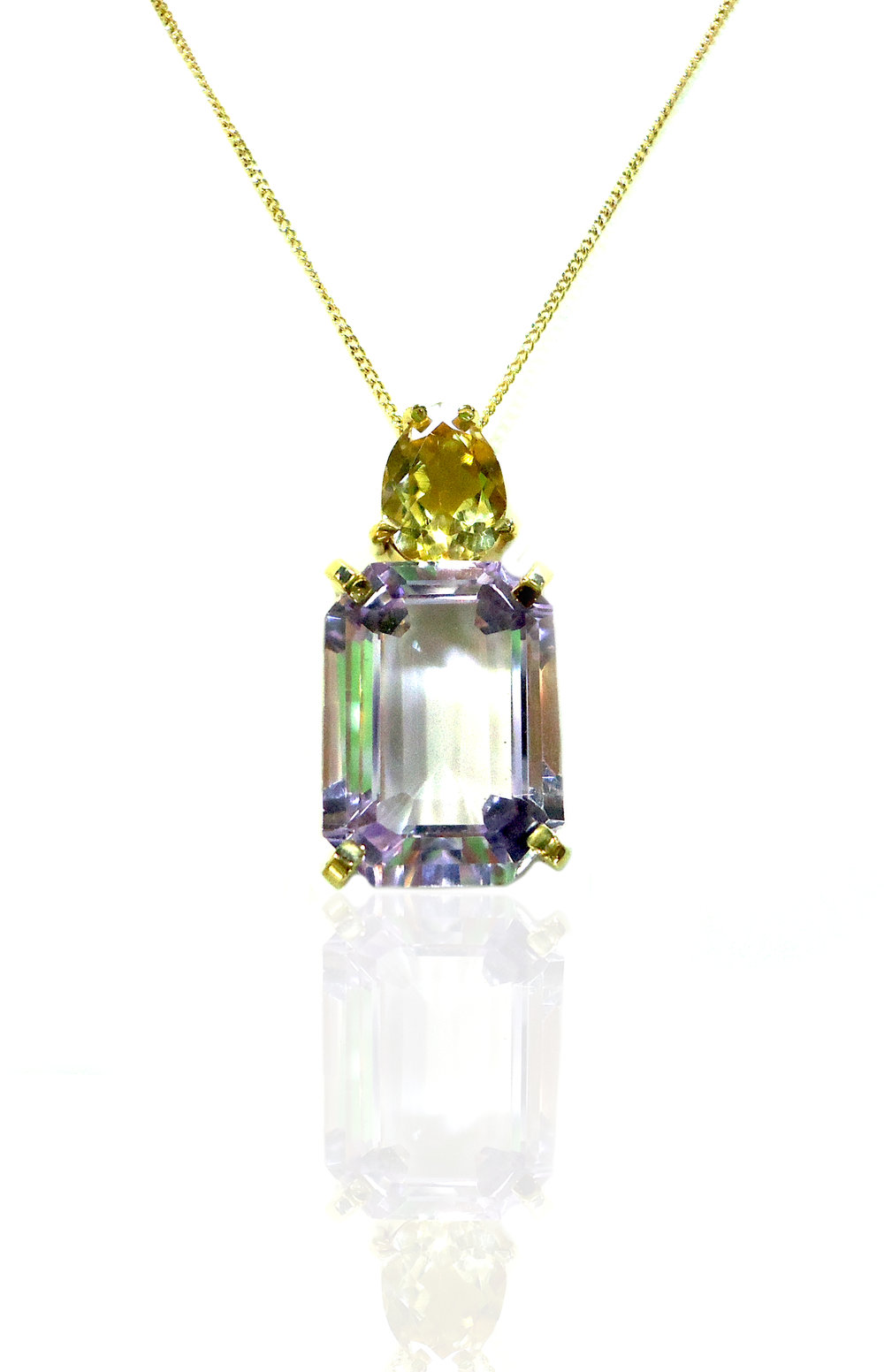 Amethyst Citrine pendant necklace!
