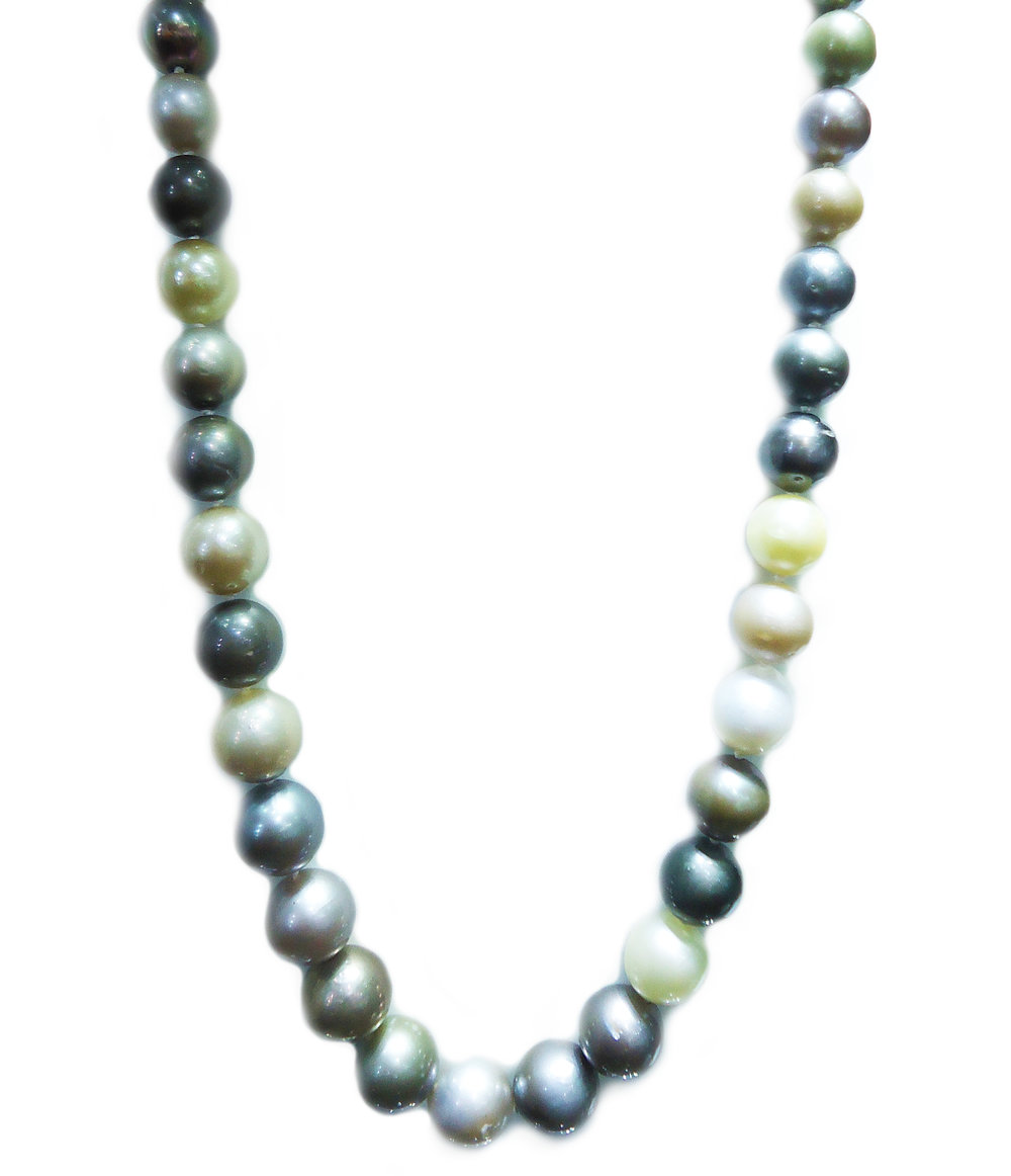 Multi-coloured pearl necklace!