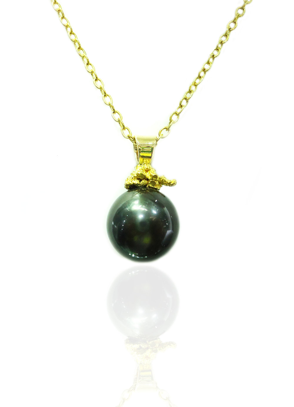 Pearl golden nugget pendant!