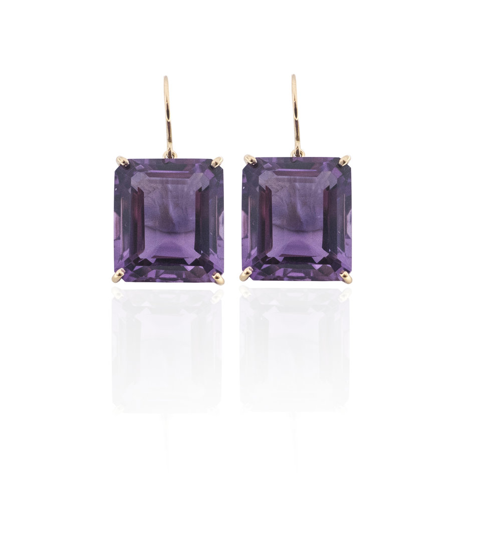 Amethyst drop earrings!