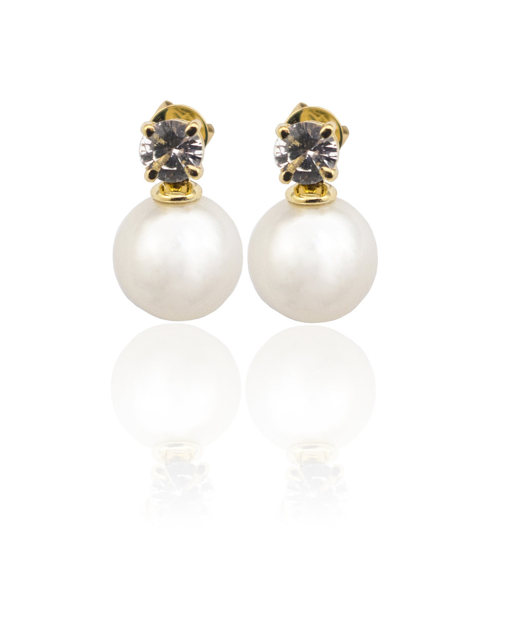South Sea pearl & Sapphire earrings!
