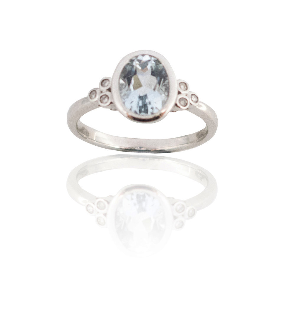 Aquamarine diamond ring!