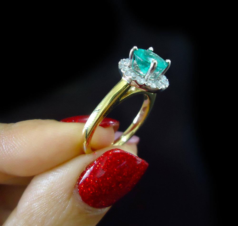 Emerald ring!