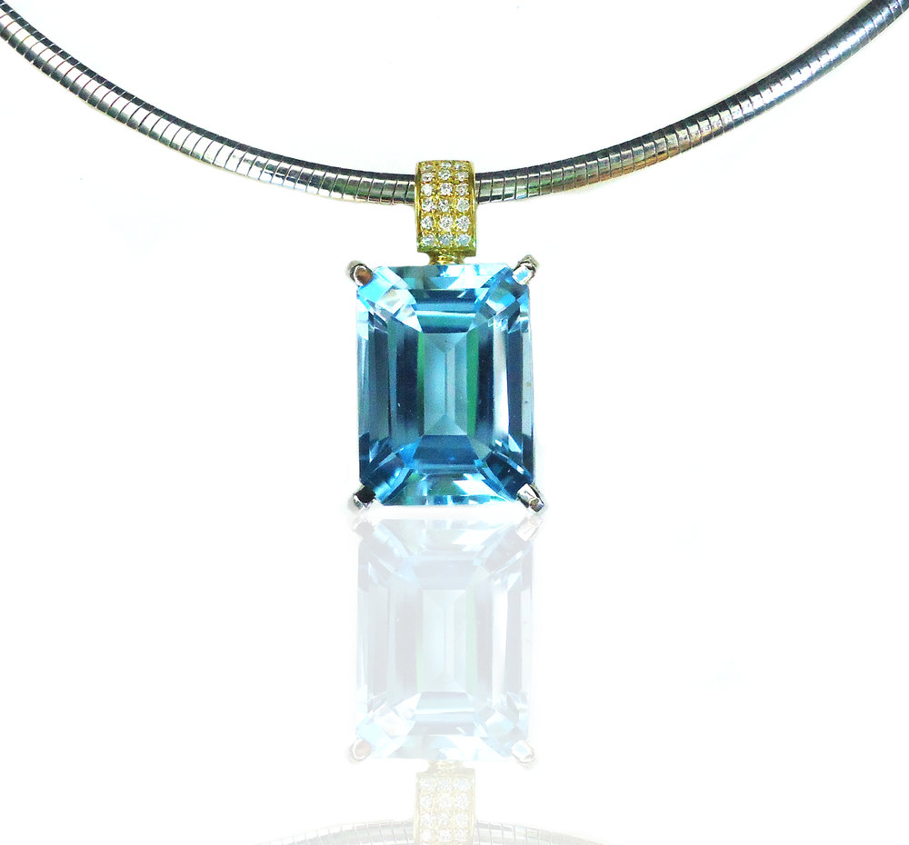 Diamond Topaz Pendant!