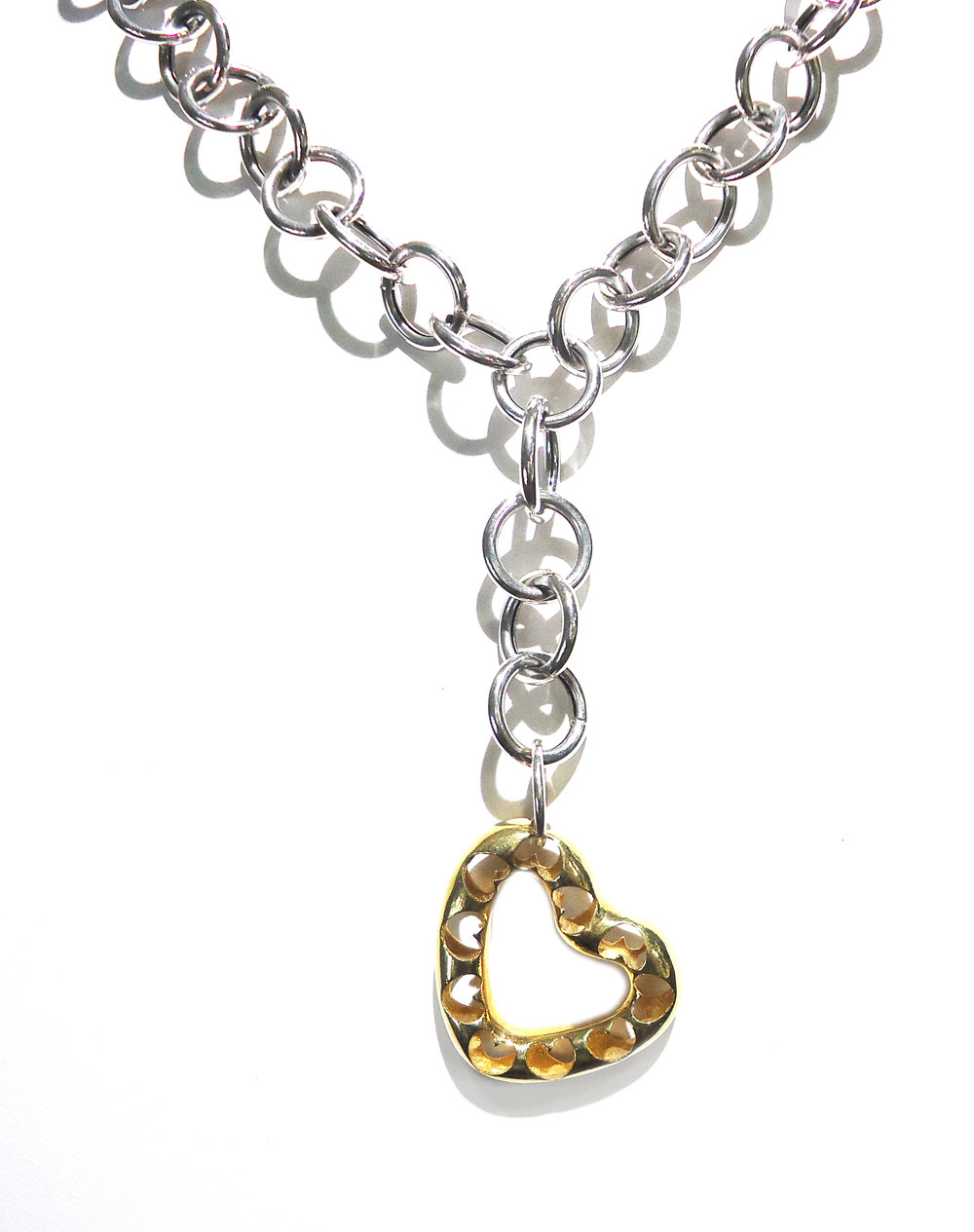 Hollow heart pendant!