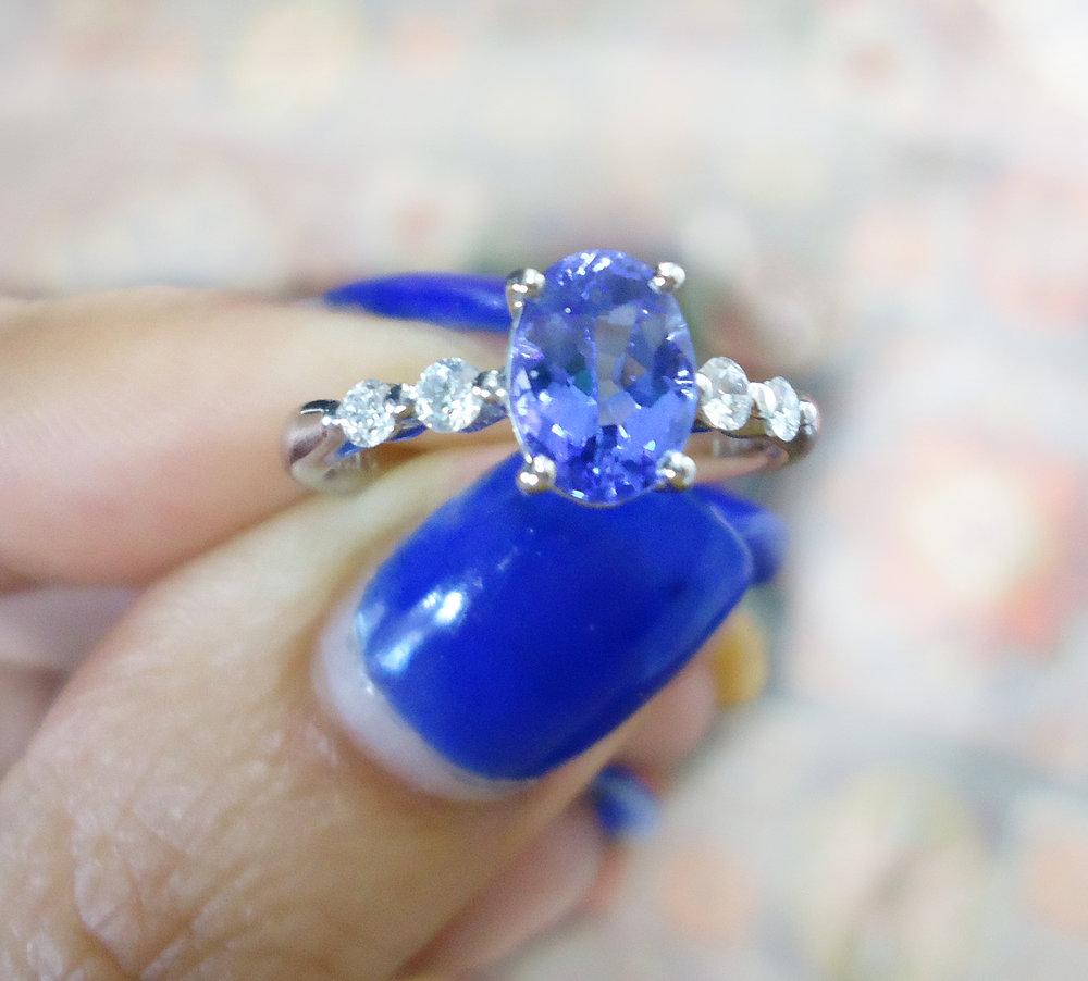 Tanzanite diamond ring!