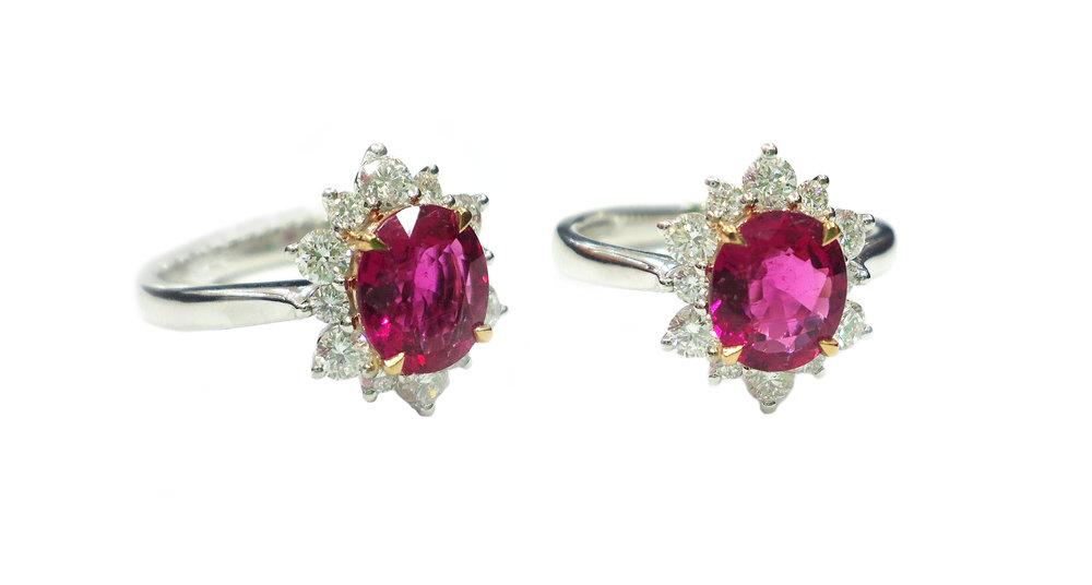 Pink Tourmaline diamond ring!