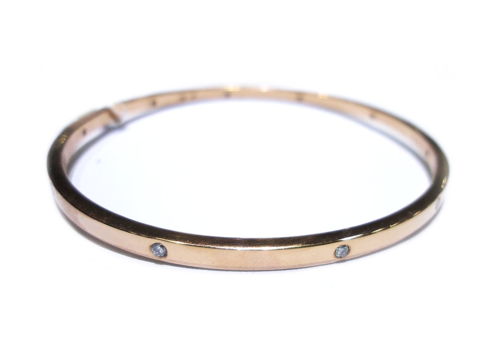 Rose gold diamond bangle!