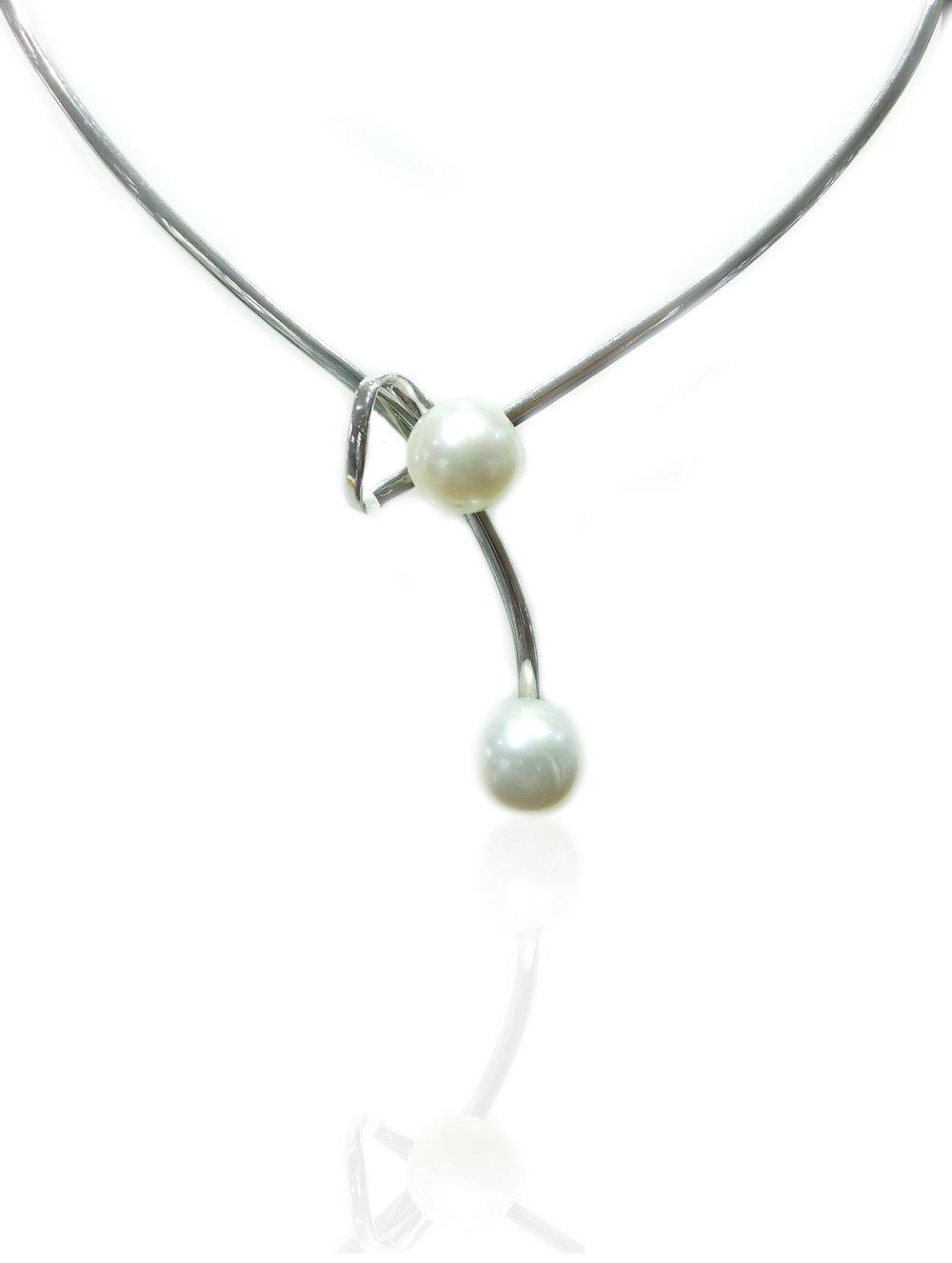 South sea pearl silver pendant!