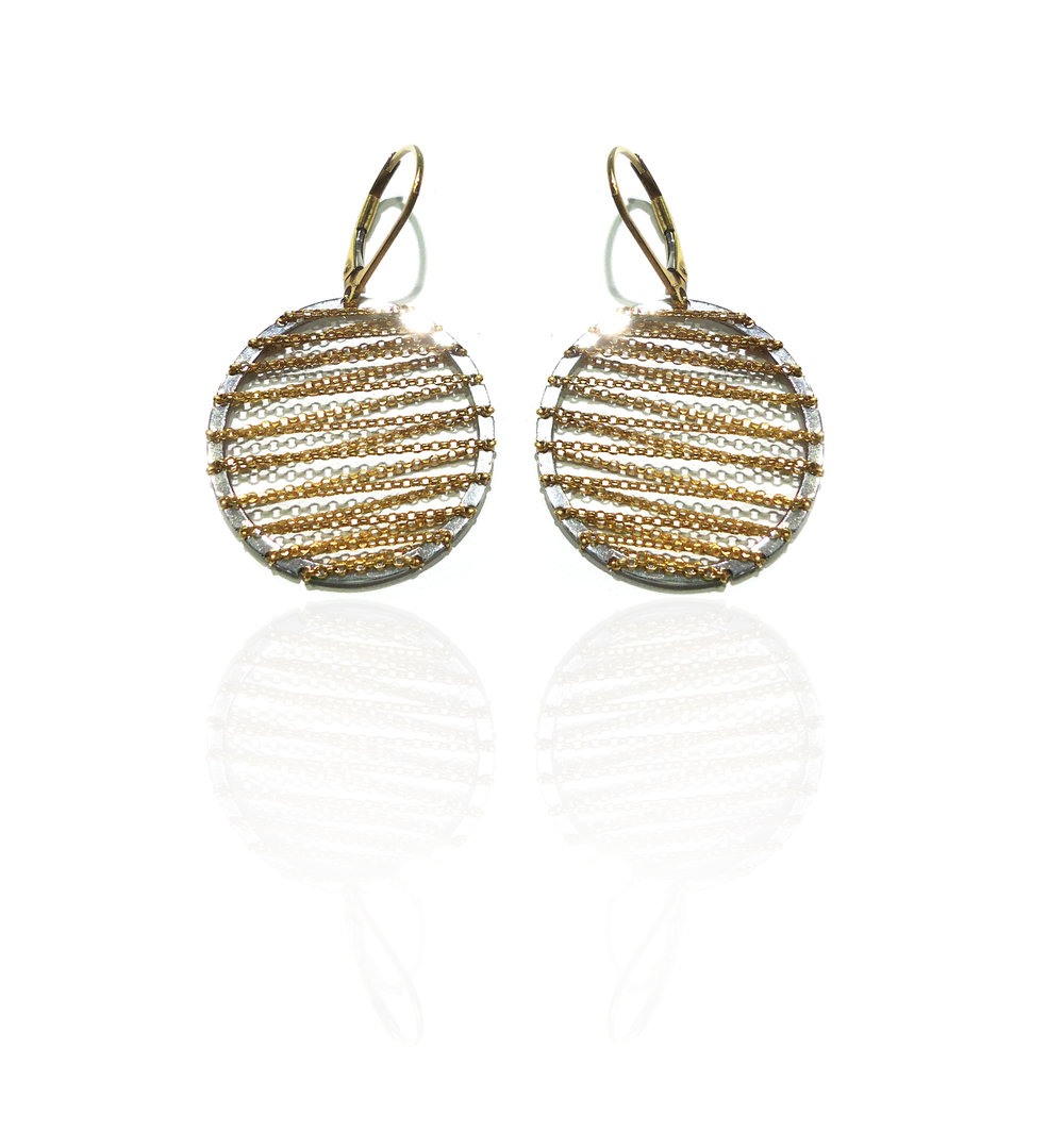 Yellow and white gold earrings!