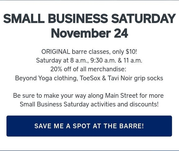 #shopsmall next weekend! $10 ORIGINAL barre classes  20% off of all merchandise . . . If you have been waiting to see what makes #theORIGINAL so different than every other #barreclass in America, come experience the movement England actually started - the original technique Lotte Berk created, Esther Fairfax preserved and Kelly Wackerman embraced is here in High Bridge, NJ. . . . #smallbusinesssaturday #highbridge #favoredlifefit #ORIGINALbarre #barre #tavinoir #toesox #hunterdoncountynj #beyondyoga #theORIGINAL #pilates #classicalpilates #yoga #hathayoga #theLONDONmethod #lotteberk #estherfairfax