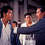 KING BOXER AKA FIVE FINGERS OF DEATH Director Chang-hwa Jeong Two martial arts schools prepare for an important tournament. (1972) ©2000 CELESTIAL PICTURES LTD. ALL RIGHTS RESERVED.
