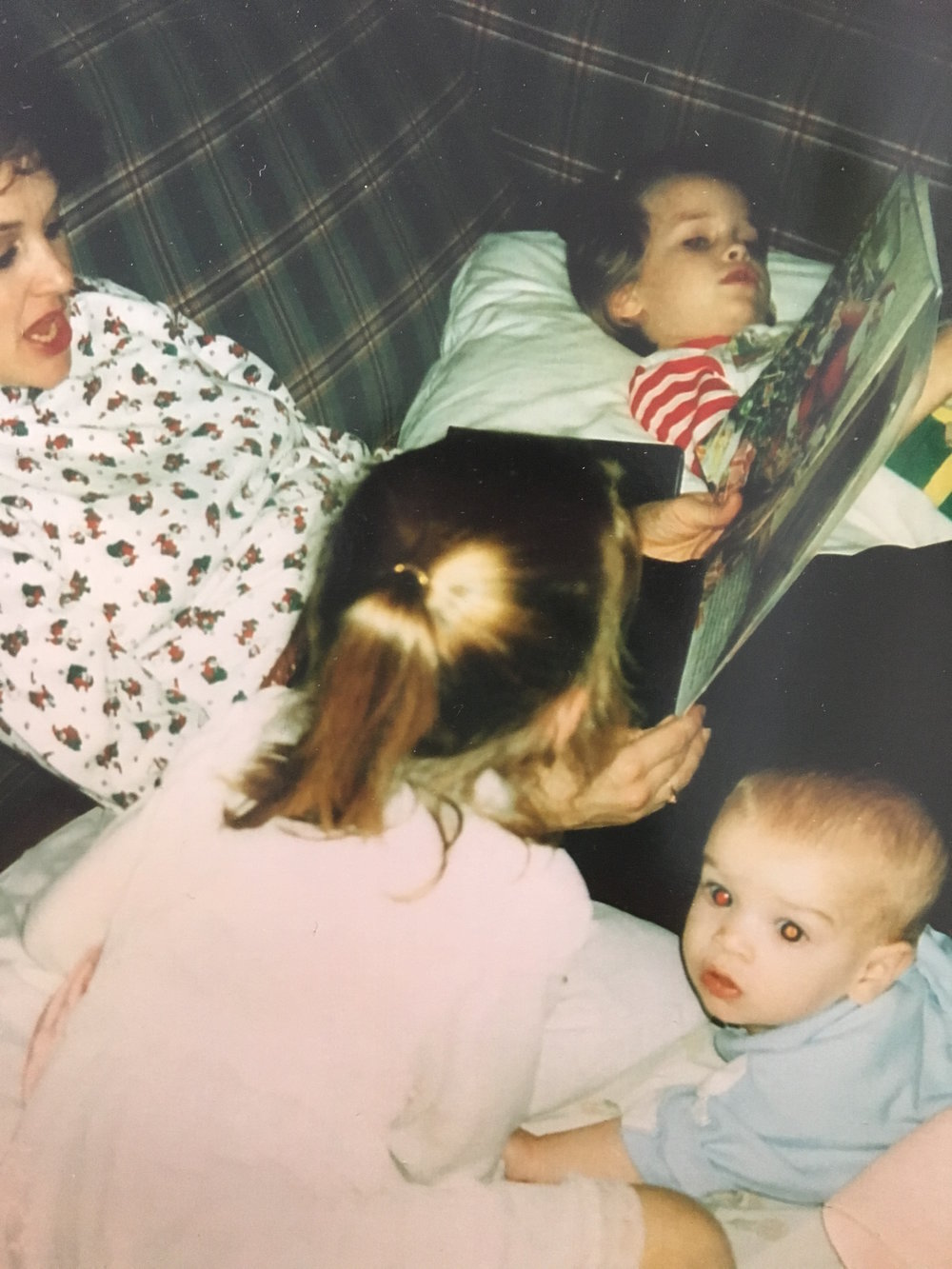 my mother piled in babies, Christmas Eve 1994