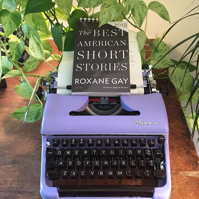 """Hot off the presses (are people still saying that? 🤷🏽♀️): the Best American Short Stories 2018! Including """"Good with Boys"""" by our own Kristen Iskandrian!! 🖤💪🏻😭"""