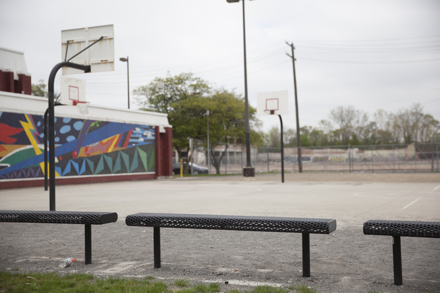 Phoenix Academy's playground and basketball courts were recently updated. The school will close its doors permanently at the end of the school year according to the EAA, who is in charge of this school and others under emergency management by the State of Michigan.