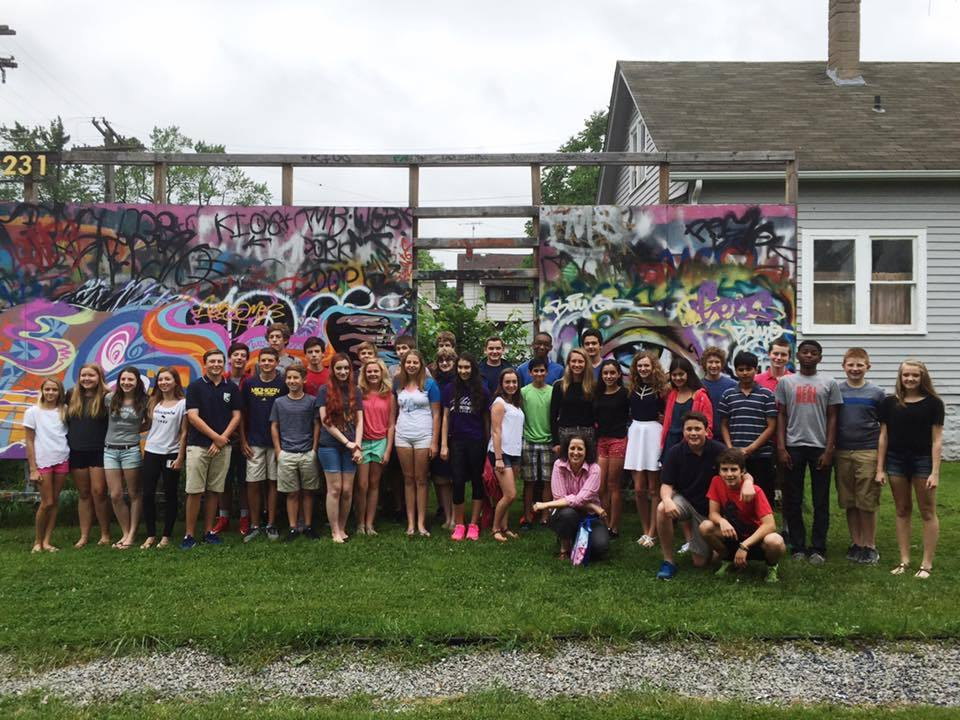 Yesterday we welcomed visitors from Brownell Middle School's Spanish class to The Alley Project. The school visits annually at the end of the a school year. Great to meet you all and hope to stay connected!