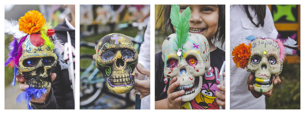 Here are some calaveras that the young people made last week at  #TheAlleyProject 's Open Studio with Mary Luevanos in preparation for  #DiaDeLosMuertos .  #SWDetroit