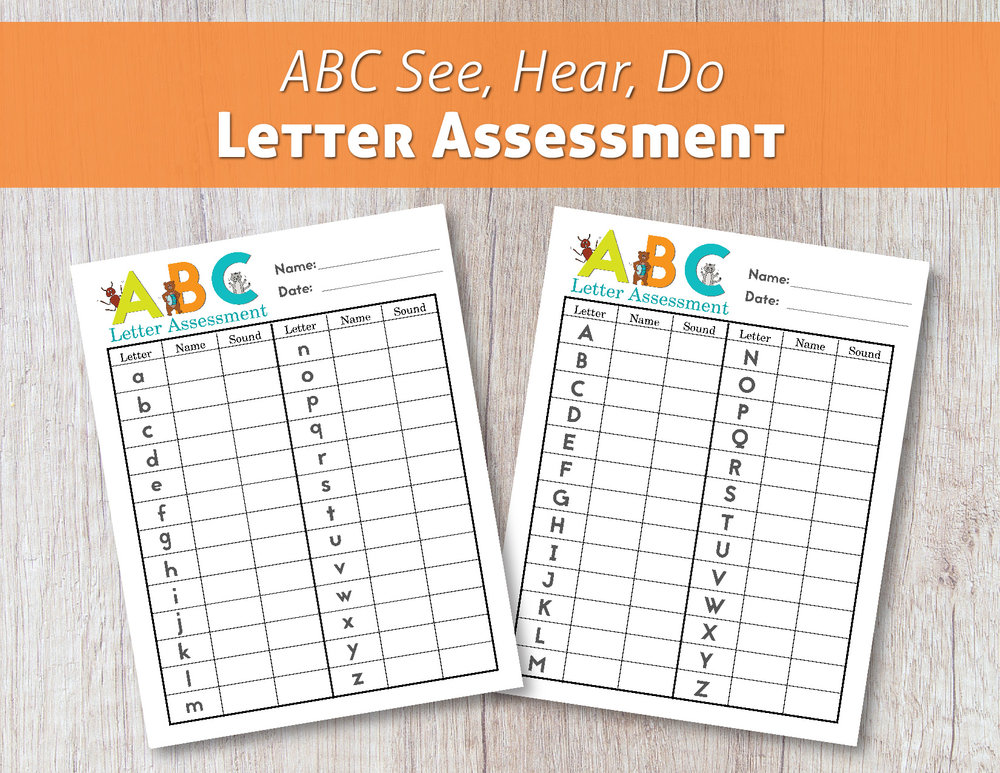 (Click image to download ABC See, Hear, Do Letter Assessment for free!)