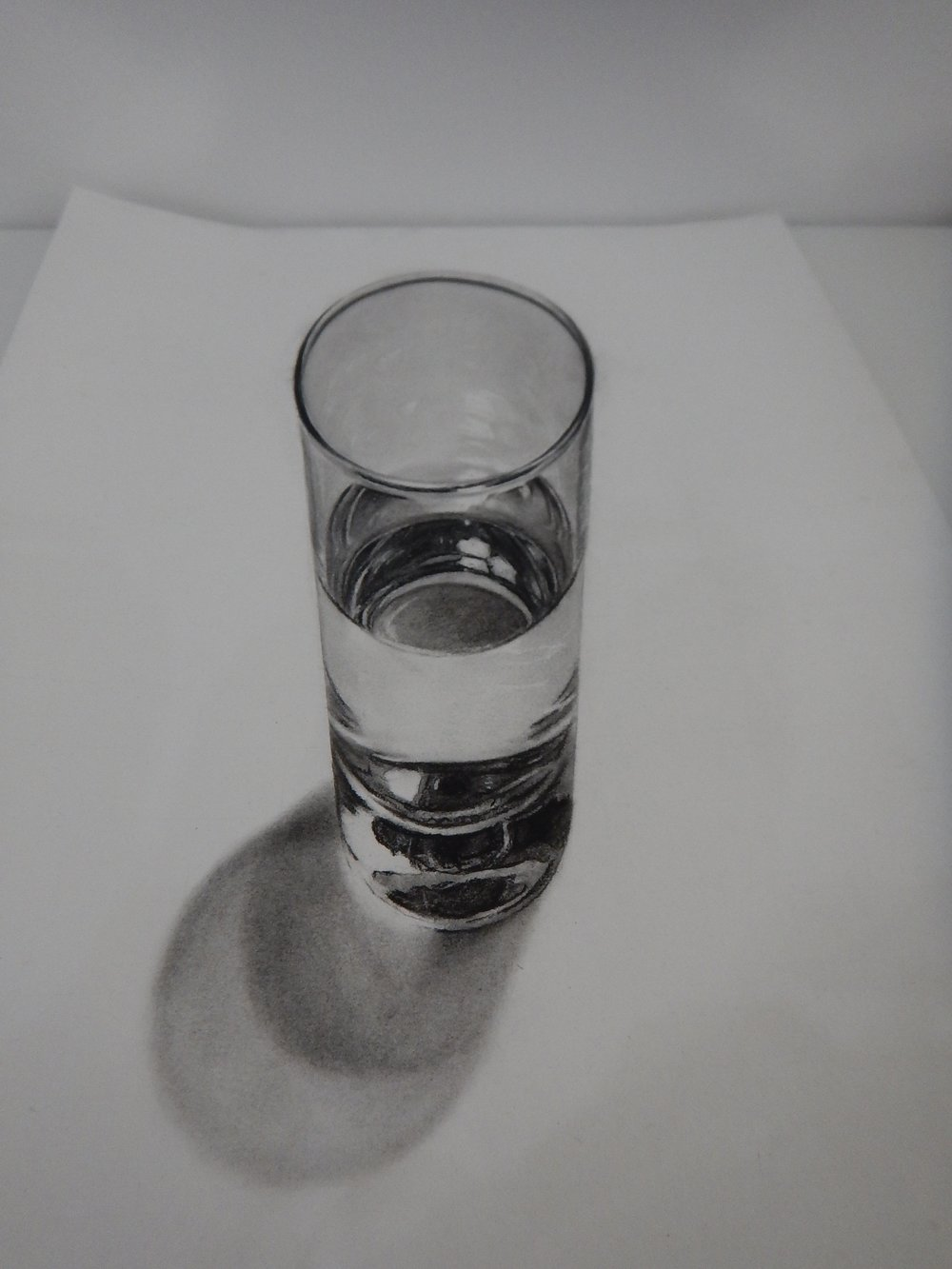 this is a brilliant sketch of a glass of water. Go figure !!