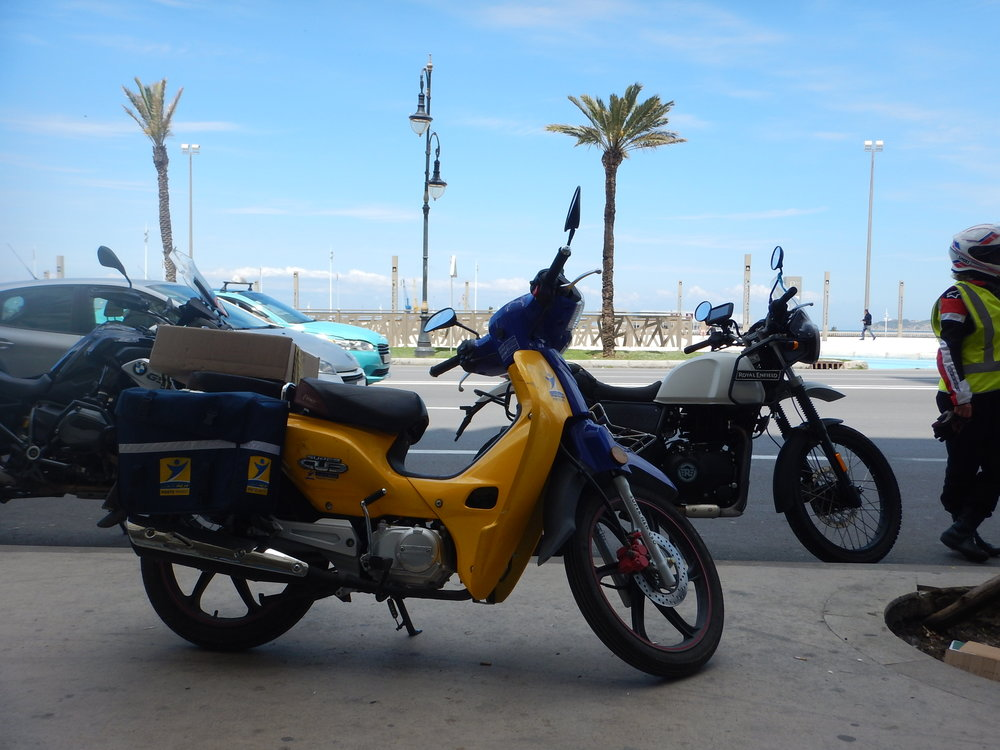 postie bike in Tangier.