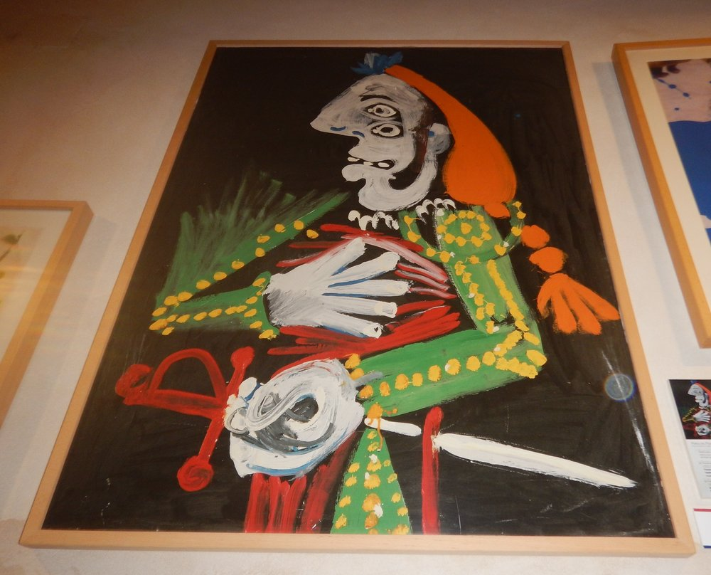 This colourful fellow was lurking in the Musuem at the Ronda Bull fighters Ring. Picasso was Spanish and did live in Spain for quite some time.