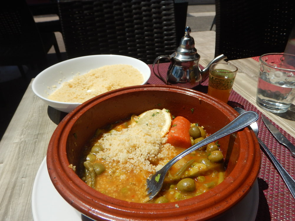 my bean tajine was served with feather light cous cous. Parfait!