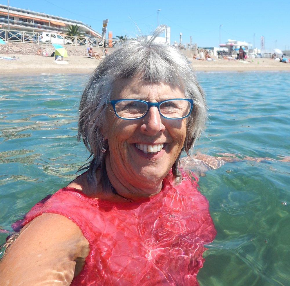 Swimming in my dress at Cannes