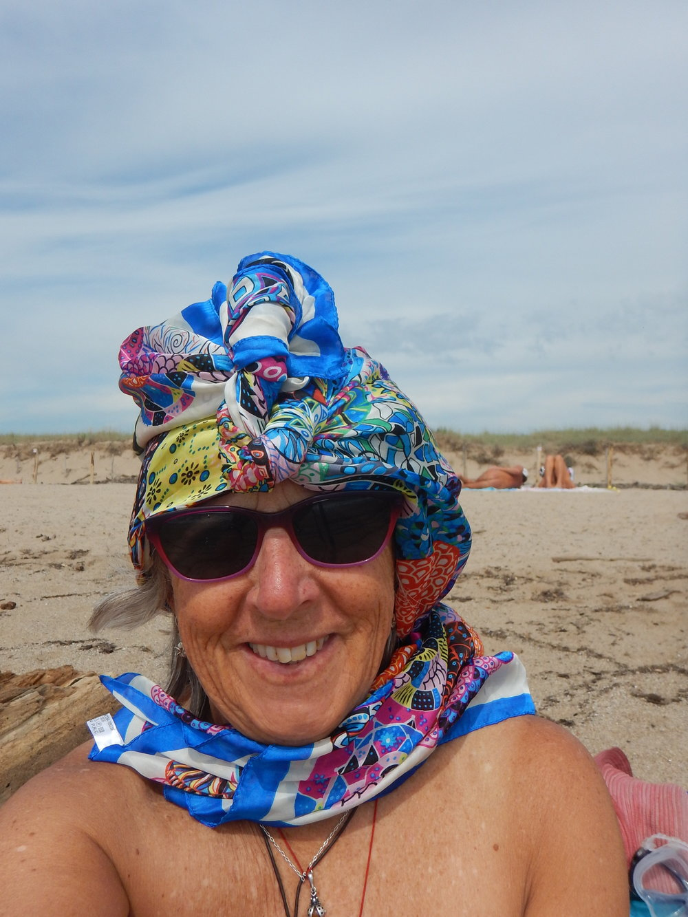 Tuareg style, with the wind like it was in the Sahara.