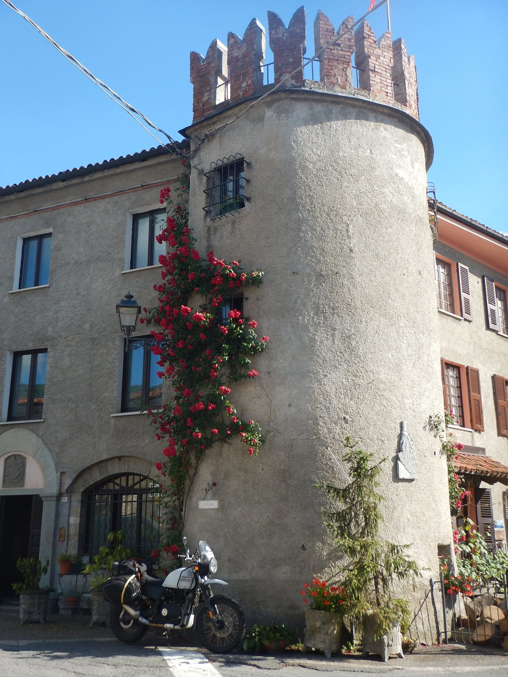 PortaRose guest house in Garessio, Italy. The legend of love and roses continue. . . .