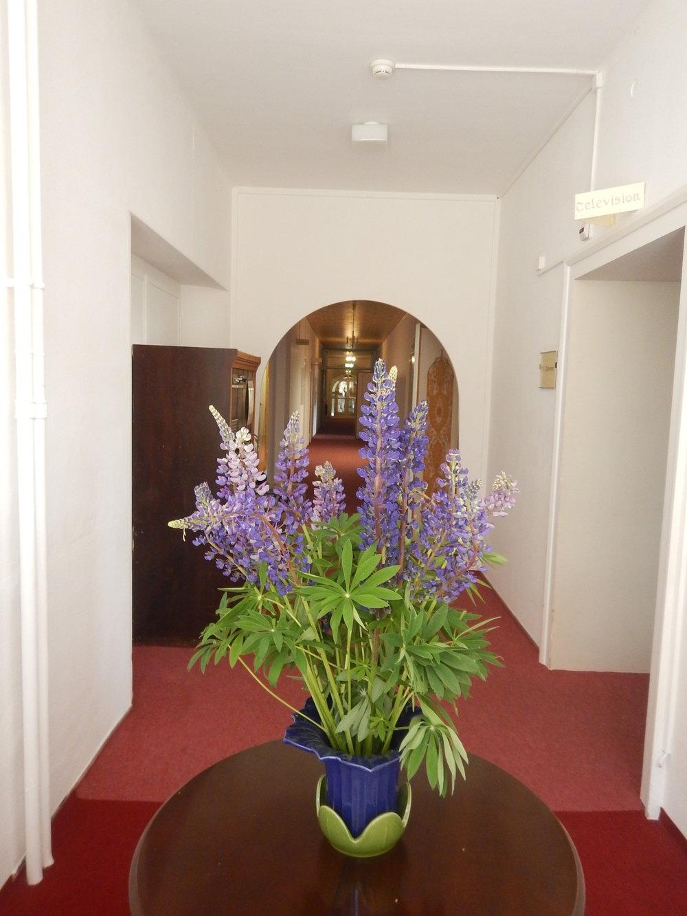 Wide passages make the hallways seem so elegant.