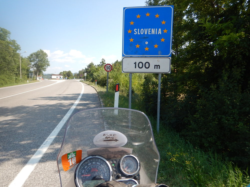 S for Slovenia, just passing through on my way out of the Schengen countries, to Croatia.