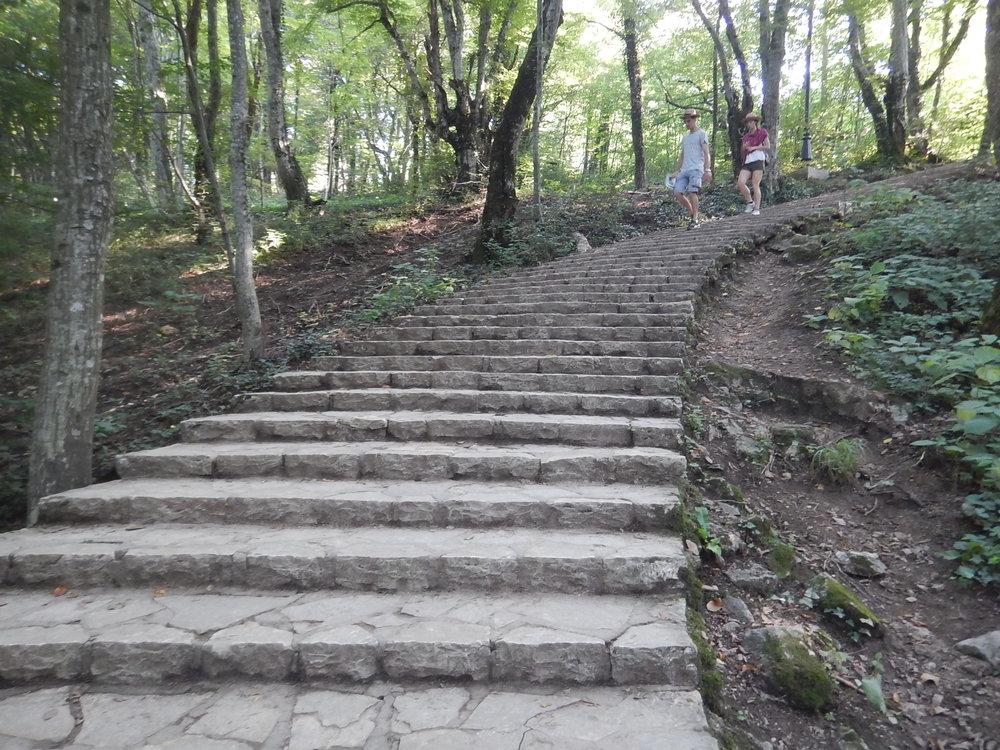 Impressive stone steps in Krka NP