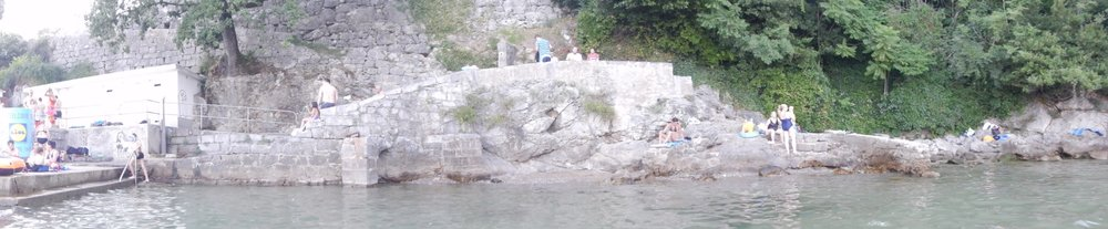 Typical Croatian mainland beach