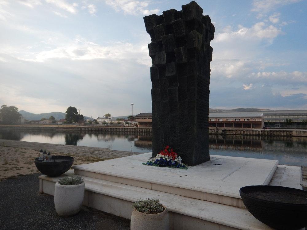 another memorial, on the banks of the serene Neretva, near Bosnian border.