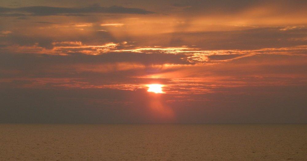 sunrise from near Italian coast looking towards Croatia.