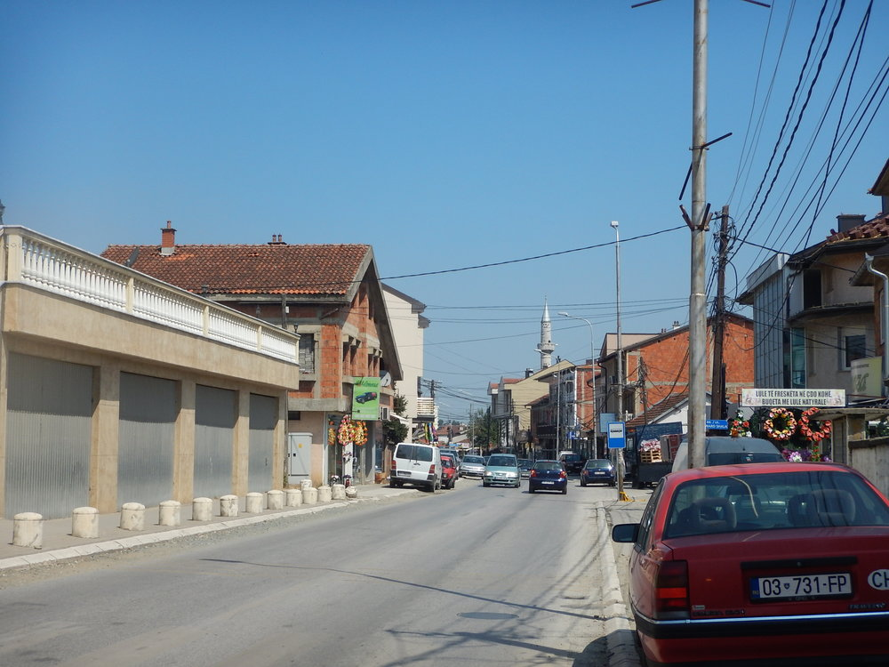 Main Street of Gjakova, Kosovo.