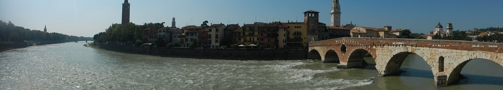 The city, Adige River and St Peters Bridge